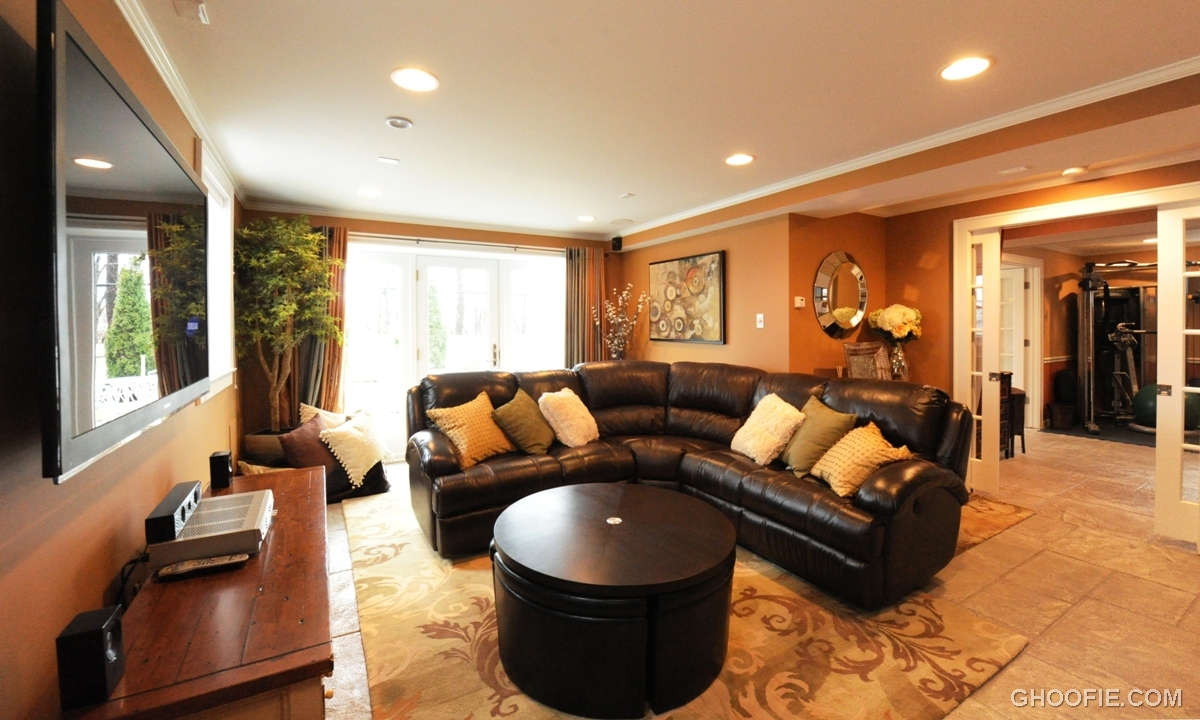 Living room design for basement