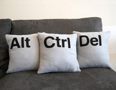 Ctrl Alt Delete pillows