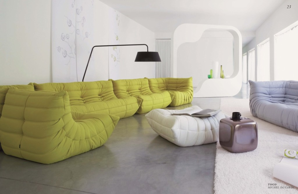 Large yellow couch