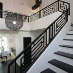 Modern black and white railing