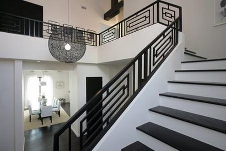 Modern black and white railing
