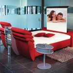 Red Cinema Bed