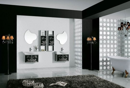 Inspirational Design - black and white bathroom