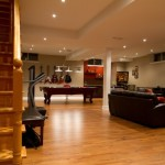 Family rooms in basement