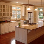 Clean classic kitchen with white cabinets