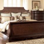 Luxury sleigh bed in master bedroom
