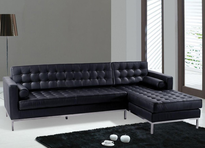 Modern Black Sectional Sofa Couch Interior Design Ideas