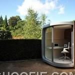 Modern prefab home office design