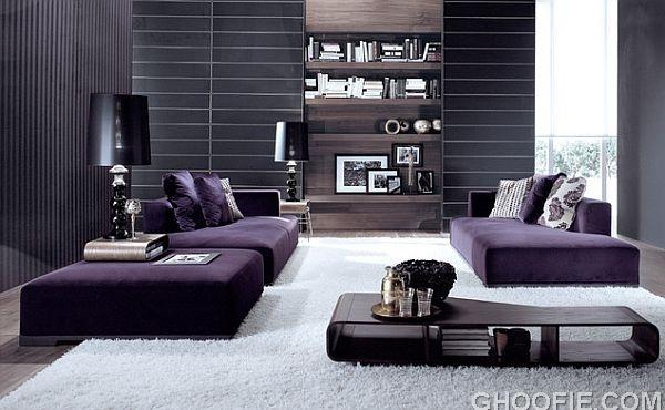 modern purple sofas Interior Design