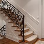 Swirling custom stairway railing