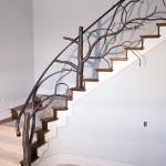 Tree style banister stairway railing