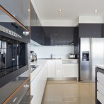 Amazing modern kitchen with black and white