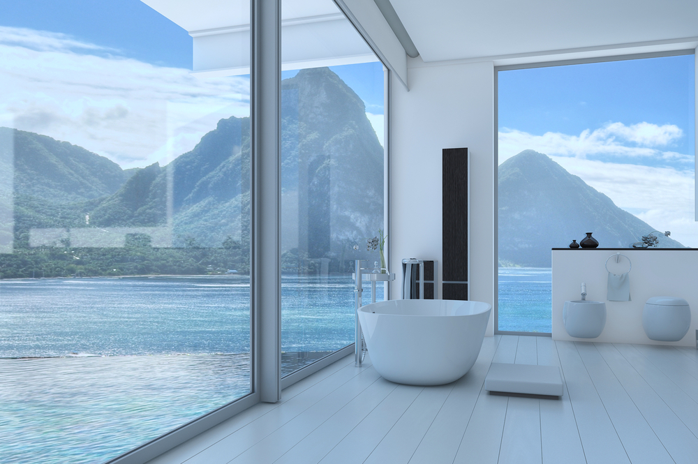 Amazing view in glass house