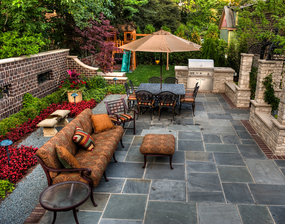 Awesome patio with grill and firepit