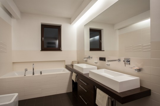 Bathroom with nice recessed lighting