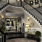 Dark rustic entry way interior design
