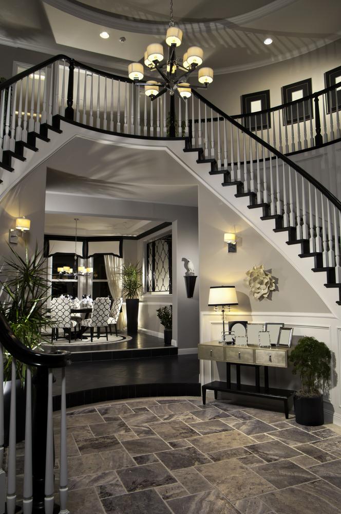 Dark rustic entry way interior design
