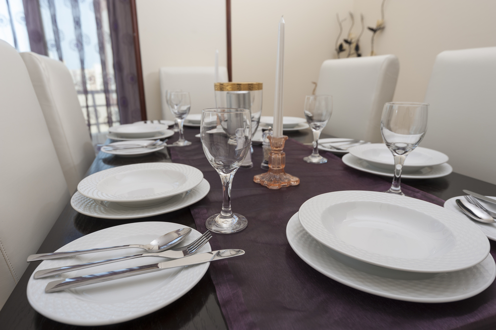 Dining room place setting
