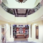 Elegant entry way with marble and chandelier