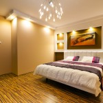 Feng shui bedroom with wood