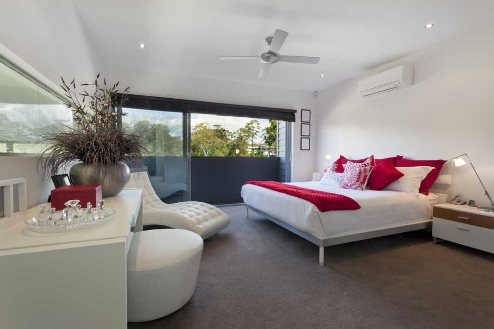 Great view master bedroom white
