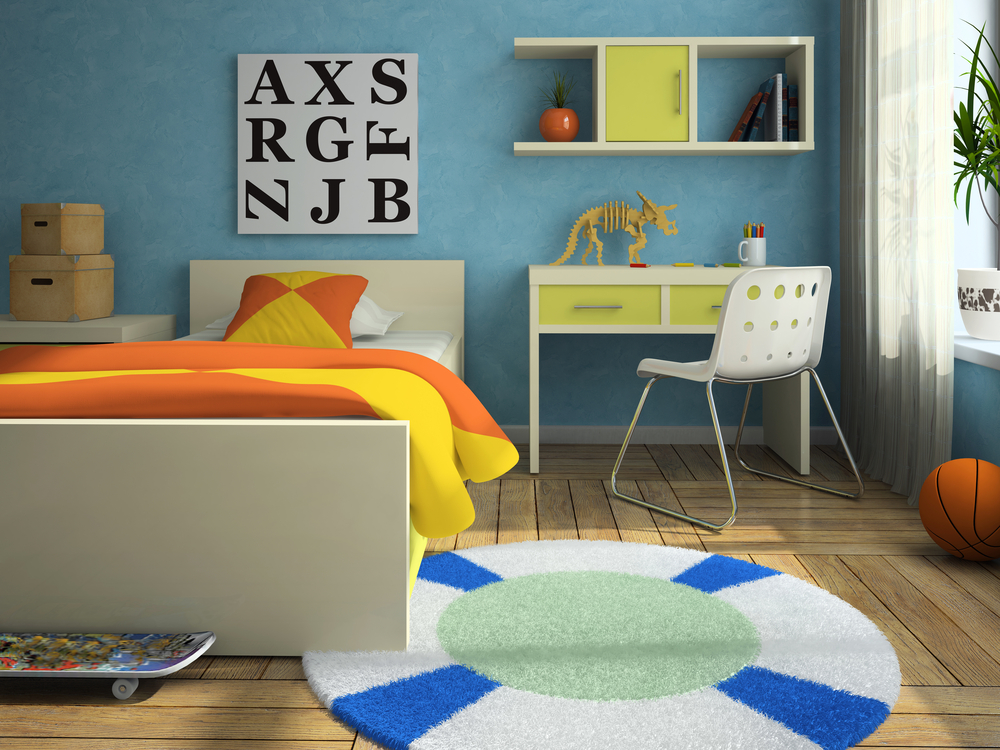 Kids room with big letters