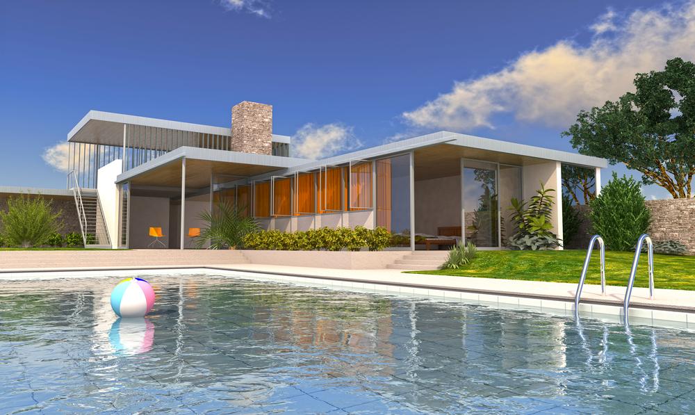 Large beach house pool design