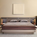 Modern bedroom with flat colors