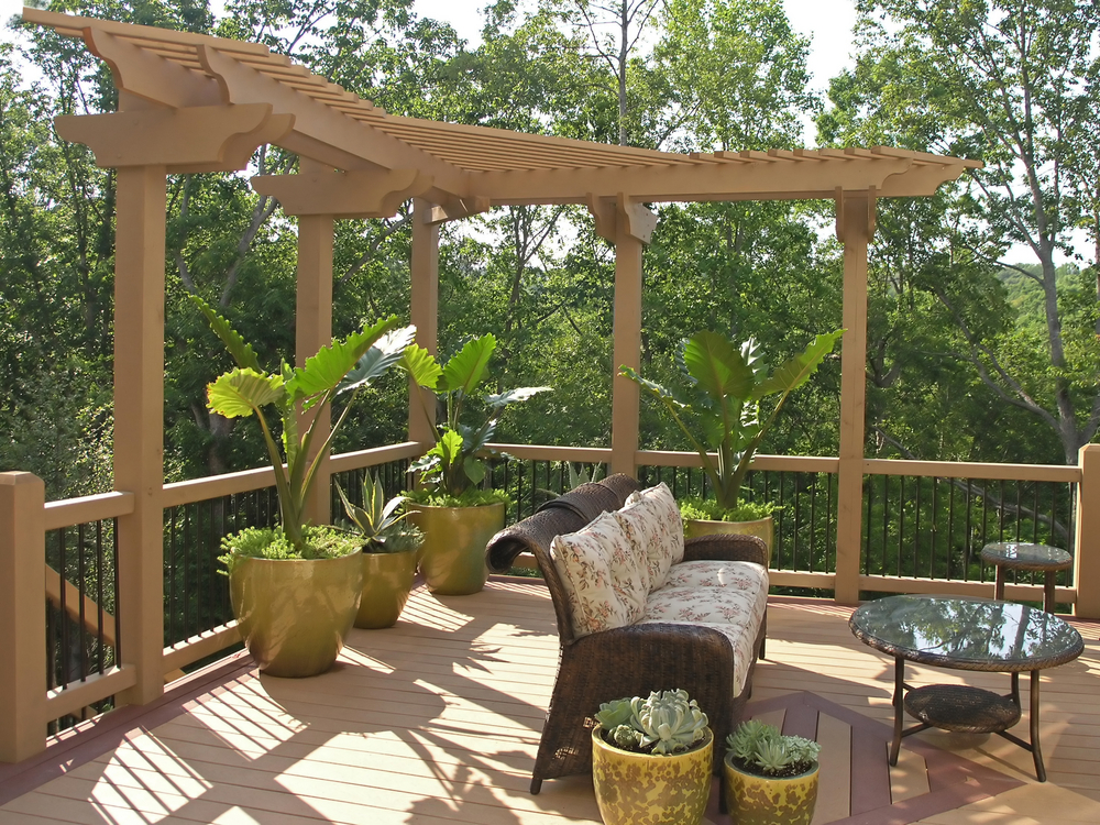 Nice deck patio in the forest