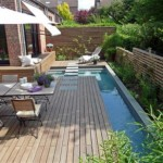 Patio garden with pool
