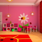 Pink kids play room