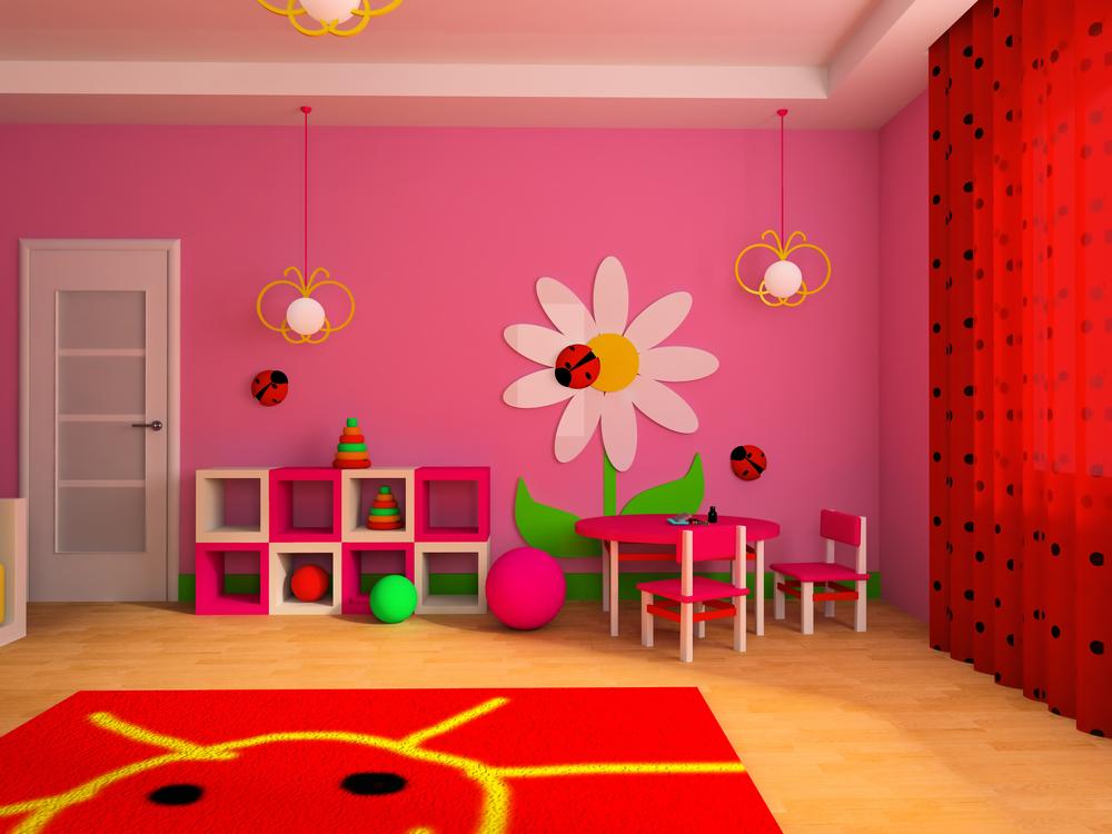 Pink kids play room