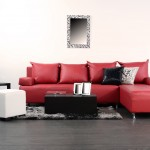 red couch home decor