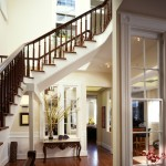 Simple entry way will elegant railing