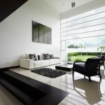 sleek black and white living room ideas