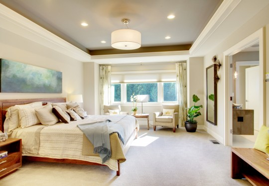 Spacious master bedroom design