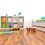 Wood floor kids room