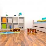 Wood floor kids room