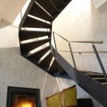 Amazing stairs and fireplace