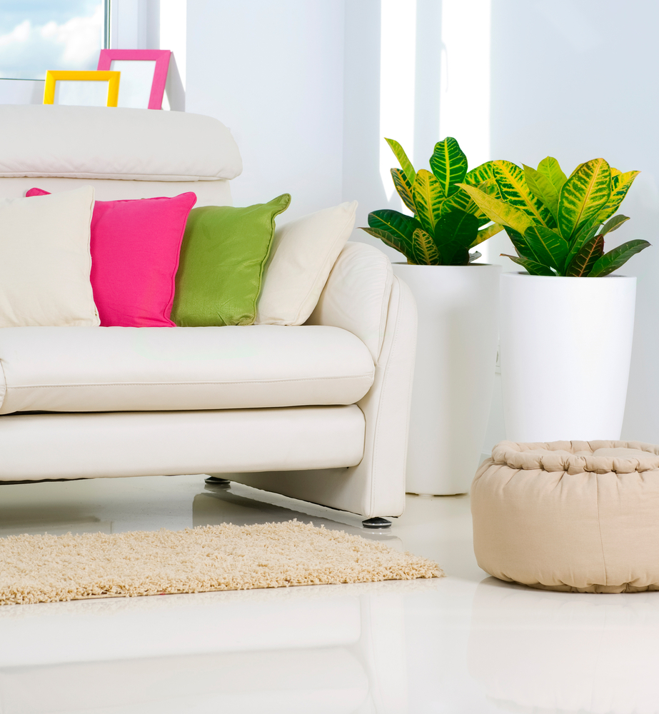 Colorful couch pillows