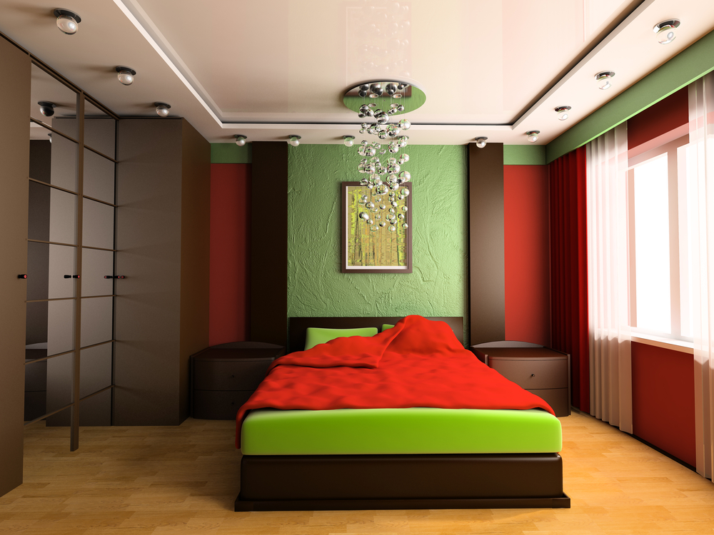 Colorful green bedroom ideas