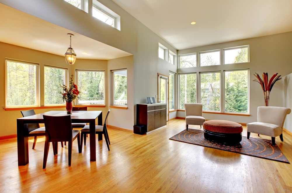 Great view living room with wood floor
