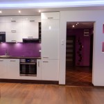 Small purple kitchen lighting