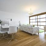 Wood floor in loving room design ideas