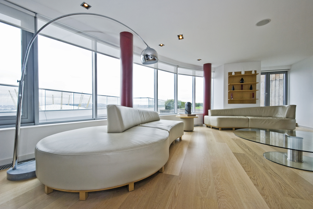 Wood floor in living room