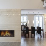 Cool fireplace in wall