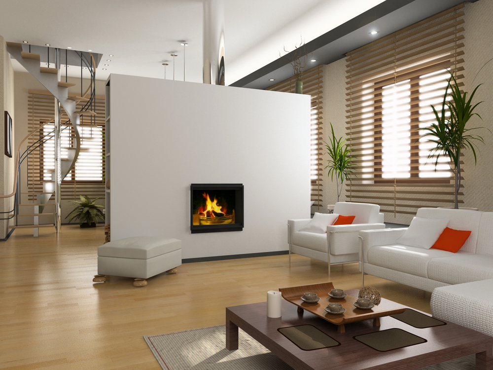 Modern Living Room Fireplace Interior Design Ideas