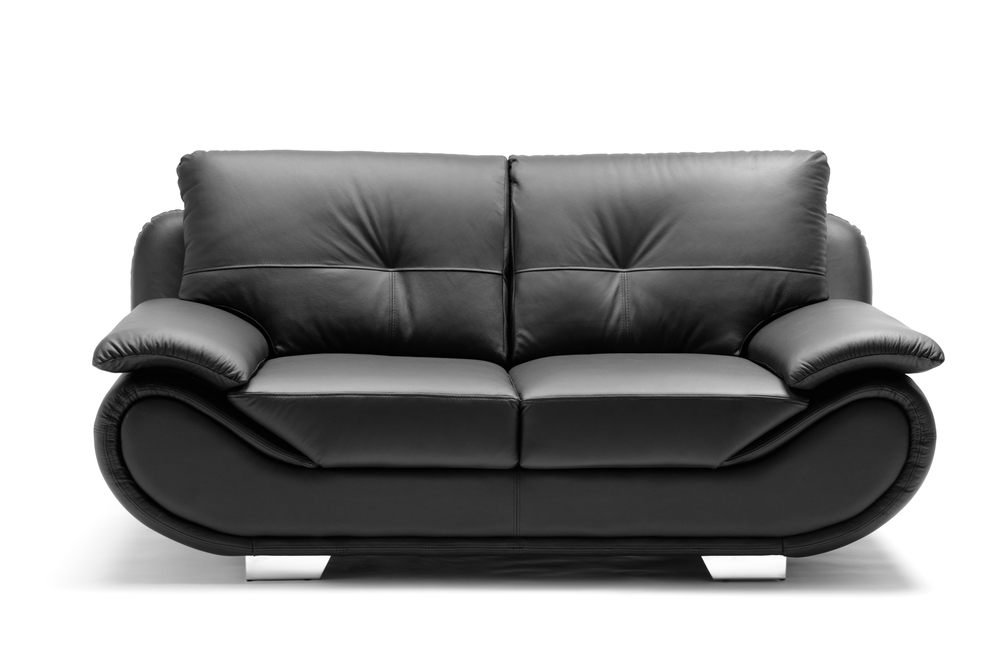Trendy black love seat