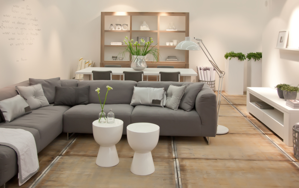 Trendy couch with table