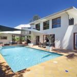 Backyard pool for summer